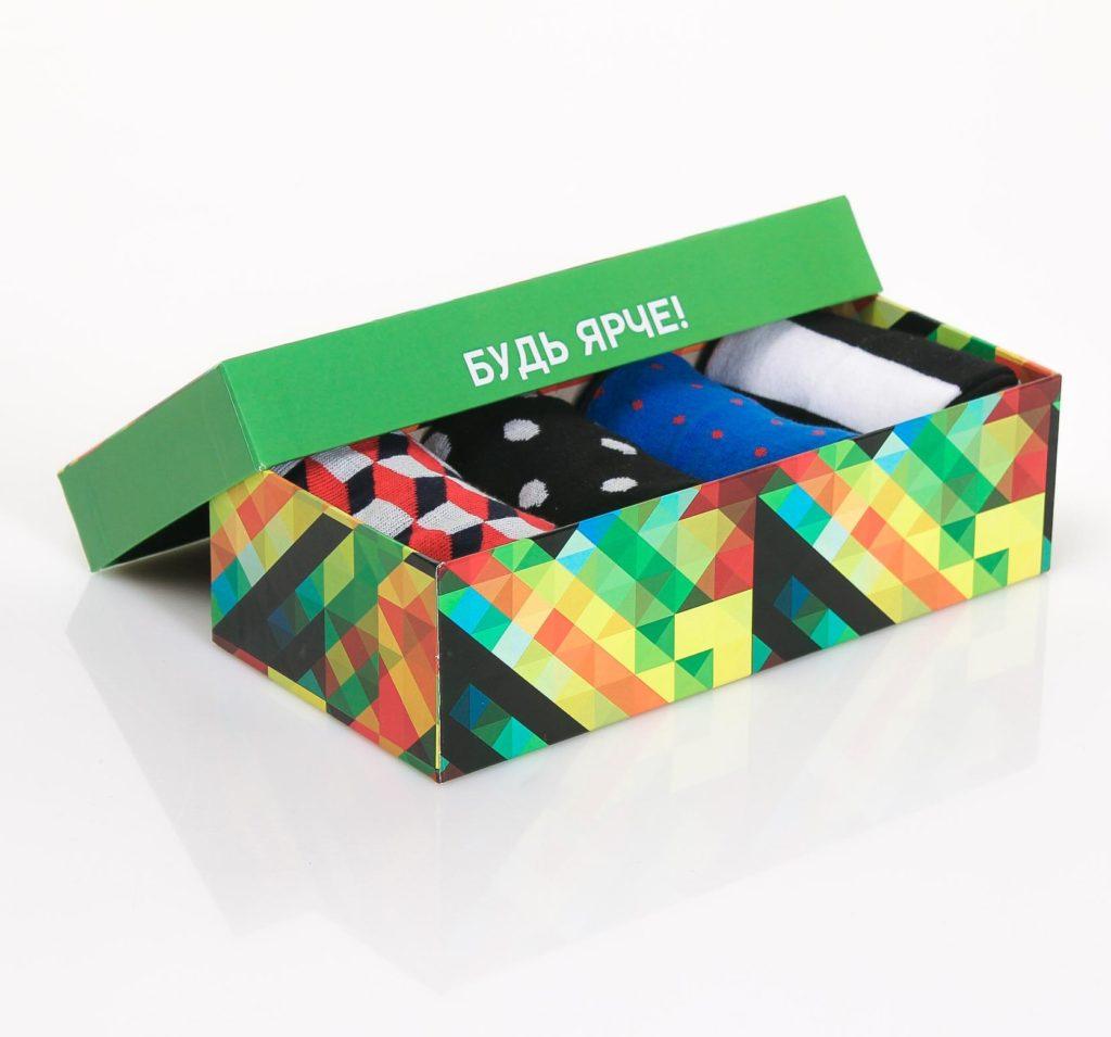 Цветные носки подарочный набор